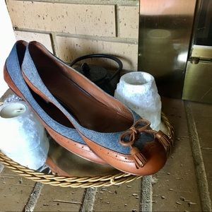 NIKE AIR COLE HAAN Leather tassel ballet flats 7.5